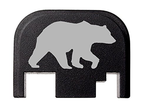 Rear Cover Slide Back Plate For Glock 17 17L 19 21 22 23 24 26 27 29 30 31 32 33 34 35 36 37 38 39 40 41 Gen 1-4 Bear Silhouette 1 By NDZ Performance (10 22 Slide compare prices)