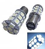 [GL・EXPRESS] 27連 高輝度 LEDバルブ ホワイト 2個 S25 ダブル球 3ChipSMD ウィンカー ブレーキランプ
