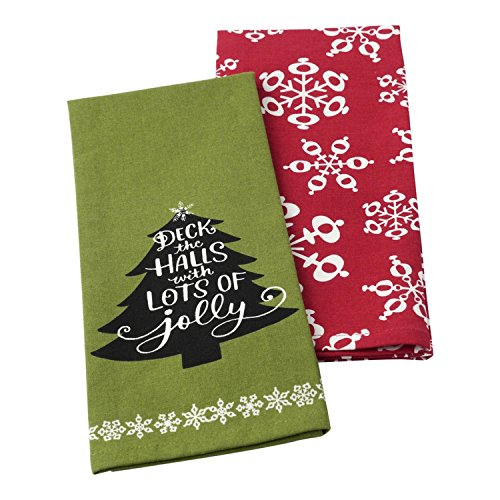 Hallmark Home Decorative Cotton Kitchen Tea Towels (Set of 2)