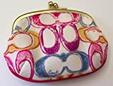 Coach Sis Signature Scribble Framed Coin Purse 63519