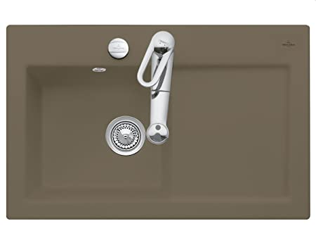 Villeroy Boch Subway 45 &Timber Inset Mounting Kitchen Sink Ceramic Einbau