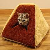 【New】ドギーマン ふわふわスウィーツベッドシフォン 【猫ちゃんのもぐりたい本能をくすぐる入り口スリット!】