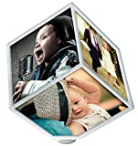 Amazon.co.jp電動 回転 3D 立体フォト フレーム スタンド ライフ キューブ 写真 アルバム 子供 思い出 立体式フォトスタンド