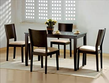 5PC Espresso Dining Table and Chairs Set