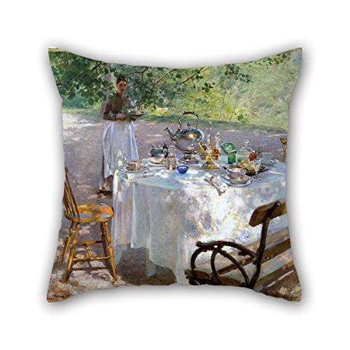 Uloveme Oil Painting Hanna Pauli - Breakfast-Time Pillow Cases 18 X 18 Inches / 45 By 45 Cm For Lover,kitchen,her,bar