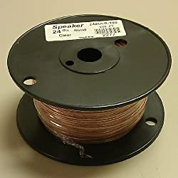 24 Gauge Clear Speaker Wire 100' Roll