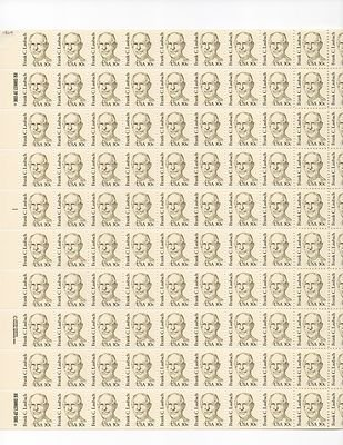 Frank C. Laubach Sheet of 100 x 30 Cent US Postage Stamps NEW Scot 1864