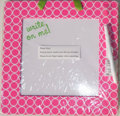 MainStreet Collection (MSC) Fashion School / Home / Office Dry Erase Board (PINK) with Circles / Polka Dots