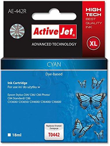 ActiveJet EXPACJAEP0125 Tinte AE-442R Refill für Epson T0442, cyan