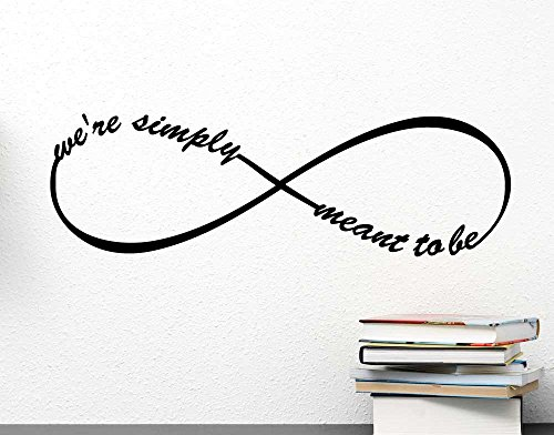 Amazon.com - Infinite We're simply meant to be love symbol. Vinyl Wall