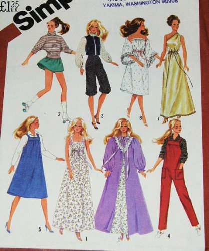 Simplicity 5637 Sewing Pattern, Wardrobe for 11 1/2