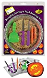 Halloween Pumpkin Carving and Seed Roasting Kit with Pumpkin Light and Stencil Set