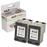 LD © Remanufactured Replacement Ink Cartridges for Hewlett Packard CH563WN (HP 61XL) High-Yield Black (2 Pack) for use in HP Deskjet 1000, 1010, 1050, 1051, 1055, 1056, 1512, 2050, 2510, 2512, 2514, 2540, 2542, 3000, 3050, 3050A, 3051A, 3052A, 3054, 3056A, 3510, 3511, 3512, 3516 & ENVY 4500, 4504, 5530, 5531 & Officejet 4630, 4632 Printers ~ LD Products