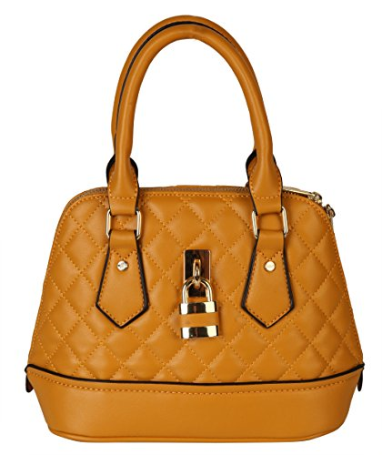 diophy-pu-leather-quilted-front-lock-decoration-shell-shape-womens-top-handle-purse-handbag-xx-2708-
