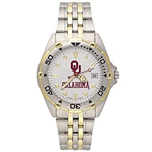 NSNSW22249Q-Stainless Steel University of Oklahoma Sooners Watch by NCAA Officially Licensed
