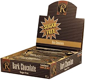 Box of 12 No Sugar Added Dark Chocolate Bars - Low Carb Chocolate From Ross Chocolates
