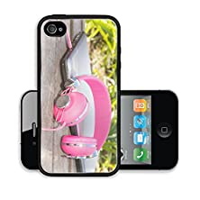 buy Liili Premium Apple Iphone 4 Iphone 4S Aluminum Snap Case Vivid Colorful Pink Headphones And Laptop On The Timbered Bench In Park 27952562