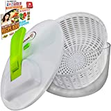 Brieftons Salad Spinner, 7.3 Quart