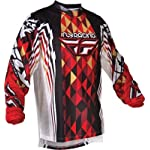 Fly Racing Kinetic Jersey, Red/Black, Size: Lg 365-222L