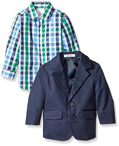 Izod baby twill chambray duo set with bow tie navy 18 for Cuisine you chambray