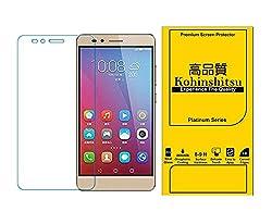 Honor 5X Screen Protector - Kohinshitsu Platunum Series Tempered Glass Screen Guard for Huawei Honor 5X 2016 Model Mobile Phone