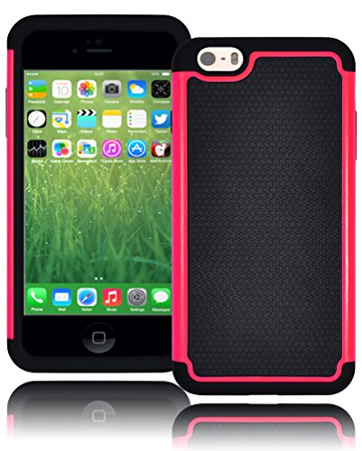 "Bastex Hybrid Deluxe Hot Pink Shock Armor Case For Apple Iphone 6 Plus, 5.5"" 6Th Generation front-559029"