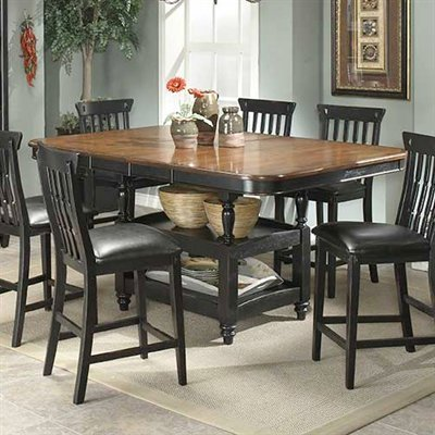 Picture of Entree Entree Clear Brook Counter Height Dining Table, Double Butterfy Leaf (CBK-487236T,CBK-487236B) (Dining Tables)