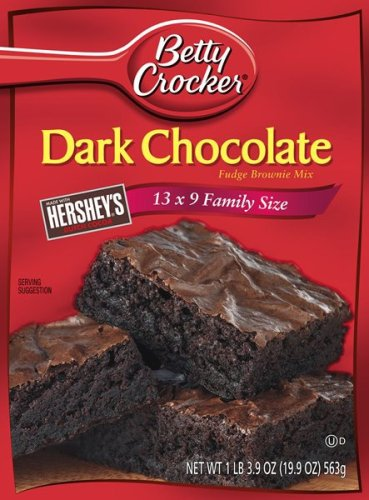Betty Crocker Traditional Brownie Mix, Dark Chocolate Fudge, 19.9-Ounce Box (Pack of 12) at Amazon.com