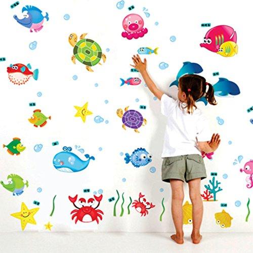 Decals Design 'Underwater Creatures Baby' Wall Sticker (PVC Vinyl, 50 cm x 70 cm)