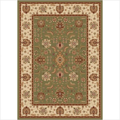 "Madlena Green / Ivory Oriental Rug Size: Hearth 23"" x 39"""