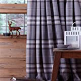 Catherine Lansfield Home Kelso Tartan Check Pencil Pleat Lined Curtains - Charcoal - 66 x 72 Inch