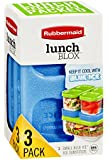 Rubbermaid LunchBlox Modular Food Storage Containers, Blue Ice Reusable Ice Pack, Small, Single (1857118)