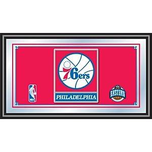NBA Philadelphia 76ers Logo Framed Mirror by Trademark Global