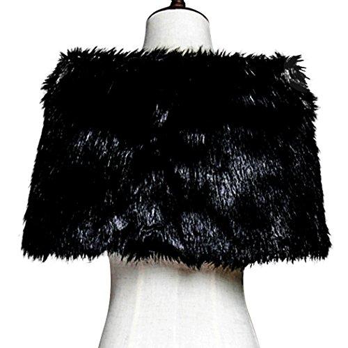 Clear bridal faux fur wrap shawl for wedding dress winter for Winter shawls for wedding dresses
