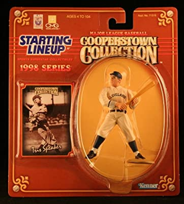 TRIS SPEAKER / CLEVELAND INDIANS 1998 MLB Cooperstown Collection Starting Lineup Action Figure & Exclusive Trading Card