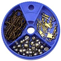 Eagle Claw Hook Swivel and Sinker Assortment, 75 Piece by Eagle Claw