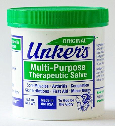 Unkers Salve Arthritis Pain Sinus Headache Eczema Psoriasis Muscle Soreness 13.5 oz