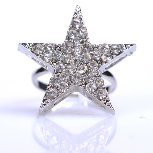 Hot Beautiful fashion jewelry start diamante ring