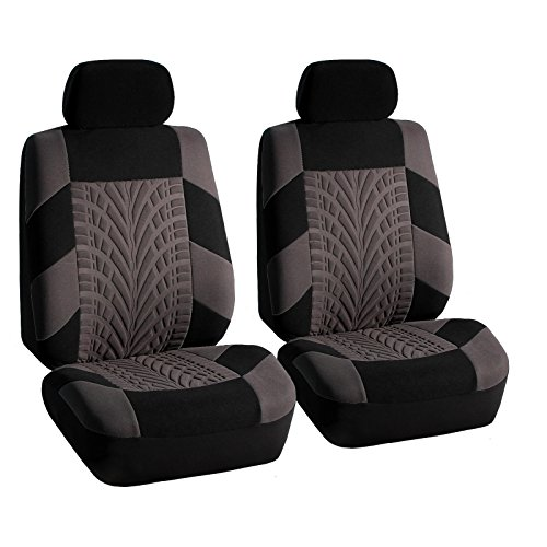 COMMART Bucket Seat Covers Set for Auto SUV TRUCK VAN Gray Ships from USA (Superwoman Car Mats compare prices)