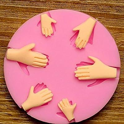 3D Silicone 6pcs Palm Cake Mold Fondant Chocolate Mould