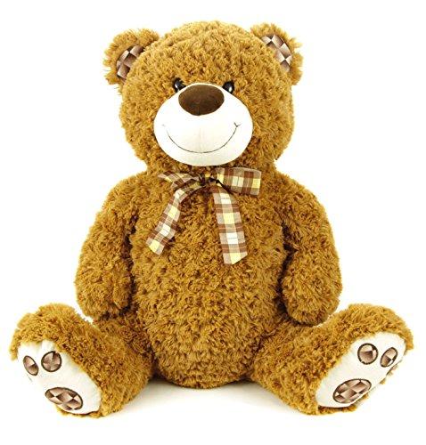 riesen teddy teddyb r mit masche 80 cm gro. Black Bedroom Furniture Sets. Home Design Ideas