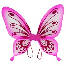 Fuchsia Sparkling Fairy Princess Wings