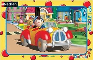 Nathan -86027 -  Puzzle Enfant avec cadre  -En Voiture Avec Oui Oui - 15 Pièces