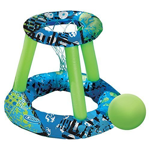 SwimWays Hydro Spring Basketball Color: Green/Blue/Medium Green Size: 24.4L x 24.4W x 20.47H in. Model: 33400 by SwimWays günstig kaufen