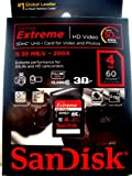 Sandisk 4gb Extreme Video HD SDHC card in retail packaging