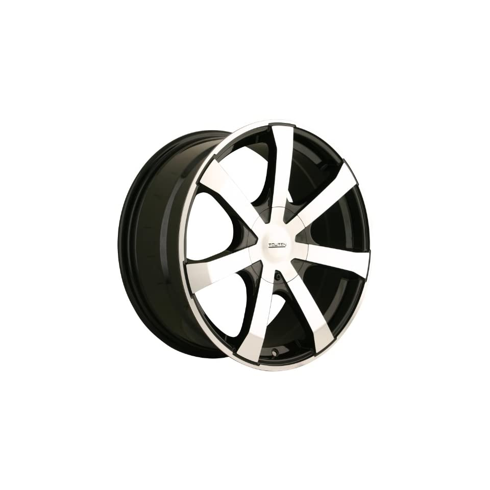 Touren TR90 18 Machined Black Wheel / Rim 5x112 & 5x120 with a 40mm Offset and a 72.62 Hub Bore. Partnumber 3290 8809BF Automotive