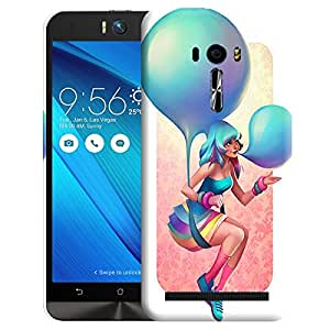 Theskinmantra Girl blowing balloon back cover for Asus Zenfone Selfie