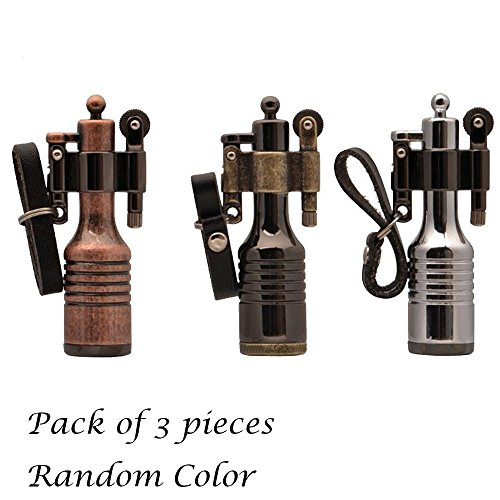 Ezyoutdoor 3 Pieces High-grade Kerosene Bottles Lighters Wheel Wizard Style Cigarette Jet Torch Random Color (Kerosene Wick Stove compare prices)