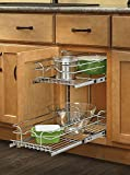 Rev-A-Shelf - 5WB2-0918-CR - 9 in. W x 18 in. D Base Cabinet Pull-Out Chrome 2-Tier Wire Basket