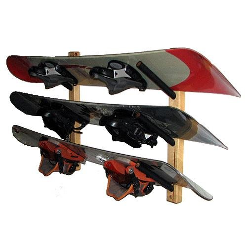 Images for Del Sol Racks Snowboard Rack (Pine) 3 Space Angle 2011